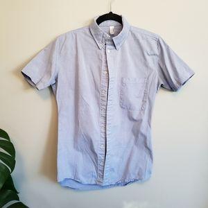 American Apparel blue oxford short sleeve shirt xs